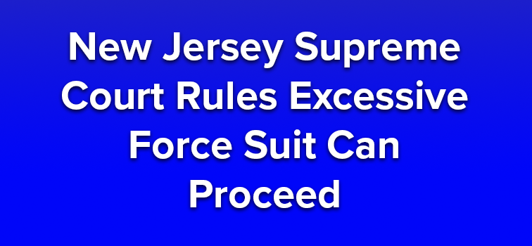 New Jersey Supreme Court Rules Excessive Force Suit Can Proceed
