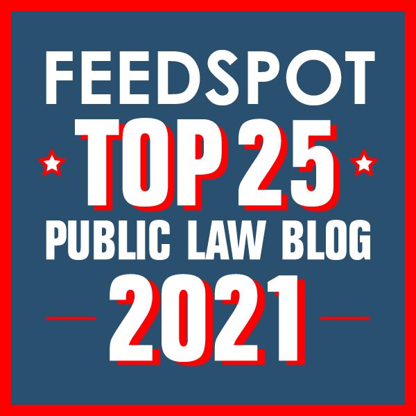 feedspot 25 public law blow